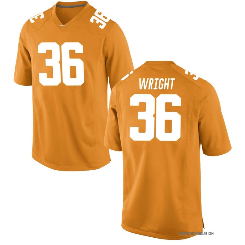 Game Men's William Wright Tennessee Volunteers Orange College Jersey