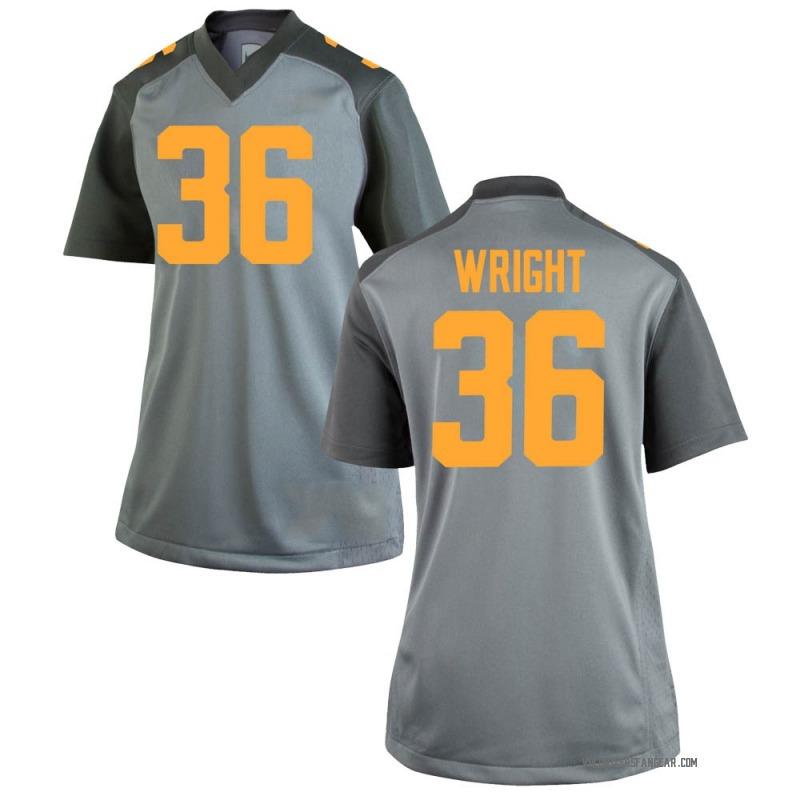 Game Women's William Wright Tennessee Volunteers Gray College Jersey