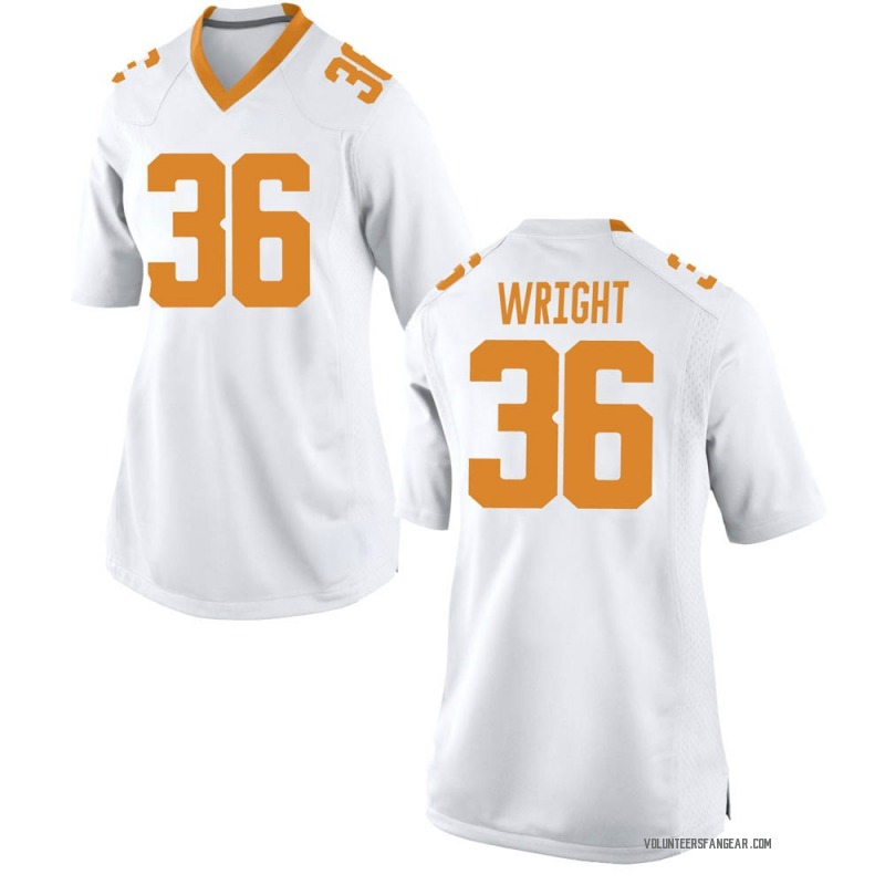 Game Women's William Wright Tennessee Volunteers White College Jersey