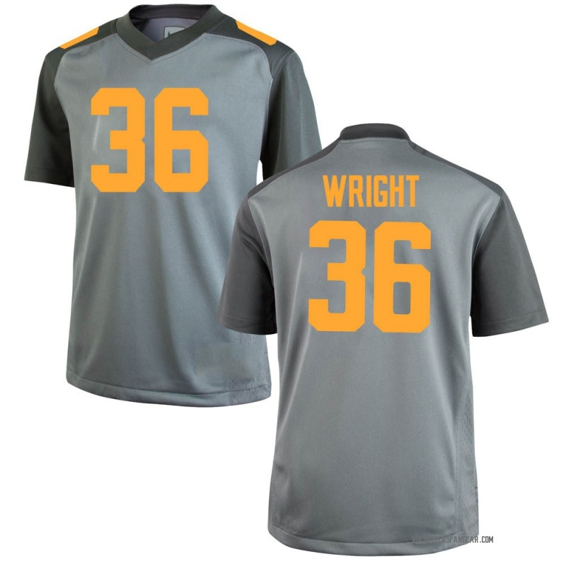 Replica Men's William Wright Tennessee Volunteers Gray College Jersey
